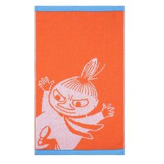 Little My towel orange from Finlayson by Finlayson, Tove Jansson Cotton Towels, Hand Towels, Moomin Shop, Tove Jansson, Terry Towel, Little My, Orange Color, Presents, Kids Rugs