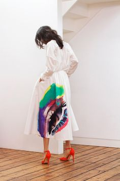 painted eye skirt