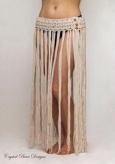 Boho Fringe Beach Skirt | Craftsy