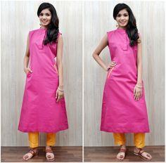 Pair up The Pink Khadi Kurta with Slit Pocket with Yellow Matka Cotton Pants and #rockthislookwithZoyashi #kurtas #pants #indianwear #khadiwear #loveforethnic #ethnicwear #longjackets #indian #juttis #khadi #pants