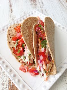 Crock Pot Baja Chicken Tacos — The Skinny Fork I would sub the ...