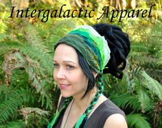 Headband Dread Wrap Women's Headband Gypsy by IntergalacticApparel, $28.00