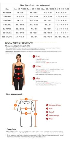 women dress Body Measurements, Charts, Size Chart, Dress, Shopping, Women, Costume Dress, Graphics, Dresses