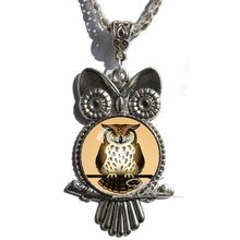 US $2.24 Bird Owl pendant necklaces Colar Feminino Moda 2015 Glass Cabochon Antique Silver necklace Statement Chain necklaces pendant. Aliexpress product