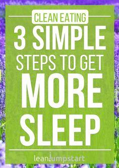 How to get sleep in 3 simple steps