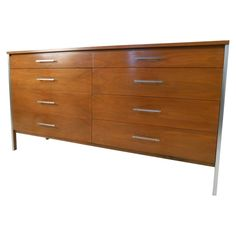 Paul McCobb for Calvin Mid Century Modern Eight Drawer Dresser
