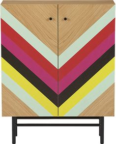 Colorful striped cabinet