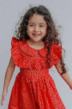 Little Girls Red & Gold Hearts Valentine's Day Ruffle Dress – cuteheads Valentines day outfit inspo for girls! Vday dress for girls that are fun and festive. Show up to your Valentine's Day party in style! SHOP ALL STYLES NOW>>> Little Girl Dresses, Little Girls, Girls Dresses, Valentine's Day Outfit, Outfit Of The Day, Cake Smash Outfit, Summer Of Love, Ruffle Dress, Red Gold