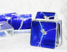 Bridal Attendants Gifts Stained Glass Boxes Set of by GaleazGlass, $146.00