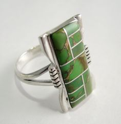 RING GASPEITE STERLING SILVER SIZE 6 FROM NEW MEXICO (Color may vary) Any question about this item Please give us a call 719 465 2742