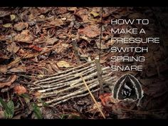 How to Make a Pressure Switch Spring Snare http://rethinksurvival.com/make-pressure-switch-spring-snare-video/