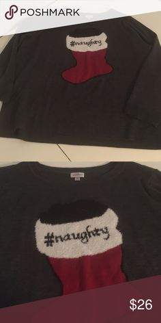 18/20 #naughty Sweater Bought for Christmas and then found a sweater with bells, which of course is MUCH more fun! Never worn #96 Avenue Sweaters Crew & Scoop Necks