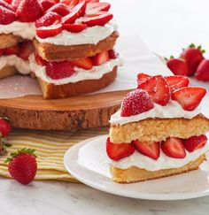 Hot Milk Sponge Cakes have been a staple in southern kitchens for decades. Chef Eddy has updated the classic and layered with fresh strawberries and whipped cream for this show stopping dessert.