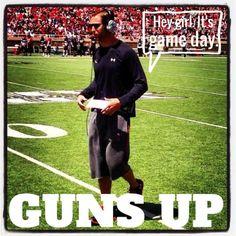 Hey girl. It's game day. Kliff Kingsbury #gunsup #texastech #redraiders