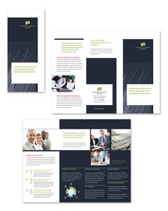 Business Analyst Tri Fold Brochure Design Template By Stocklayouts