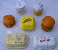 McDonald's toys! I still have mine packed up at my dad's!!!!! Lol
