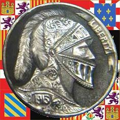 James Stewart Hobo Nickel, Antique Coins, Jim Stewart, Jewelry Collection, Carving, Scrapbook, Antiques, Soldiers, Warriors