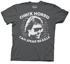 Chuck Norris Braille shirt, funny