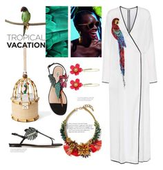 """trop...ical"" by gabrielleleroy ❤ liked on Polyvore featuring Valentino, Banana Republic, Betsey Johnson, Attico, Kate Spade, Puebco, polyvoreeditorial, polyvorecontest and TropicalVacation"