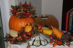 Displaying some of our fall gourds.