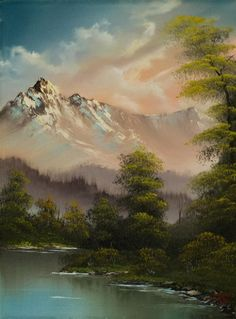 bob ross paintings for sale | evenings glow 86017 painting by bob ross paintings for sale on ...