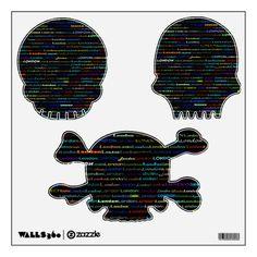 London Text Design I Wall Decals Halloween Skulls