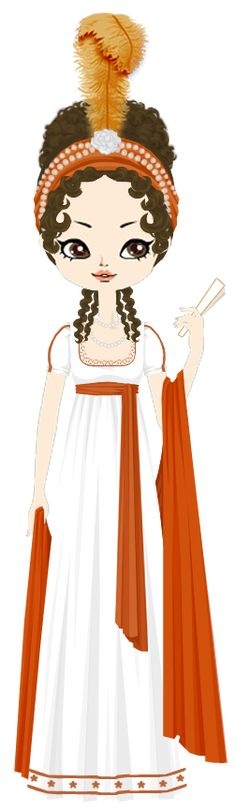 Directoire Lady in orange by marasop.deviantart.com on @deviantART