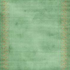 Green Side Border Paper