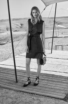 Edita Vilkeviciute stars in Massimo Dutti's spring-summer 2017 campaign