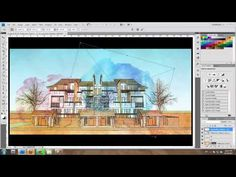 SketchUp and photoshop Tutorial : Water color Style  by design presents