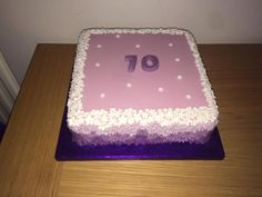 Square flower cake
