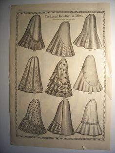 1898 Vita giacche gonne moda vittoriana modello annuncio