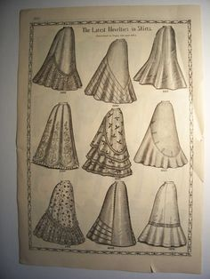 1898 WAIST JACKETS SKIRTS Victorian Fashions by PapersAndMore, $7.50