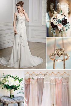 JJsHouse v-neck wedding dress,lots of beading is decorated on this dress.   #JJsHouse #JJsHouseWeddingDress
