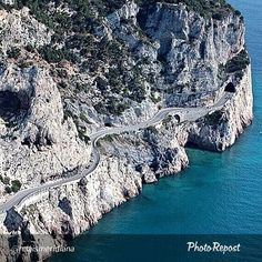"A stunning and scenic road along the Italian Riviera: we are at ""Capo Noli"".  Foto di @relaismeridiana"