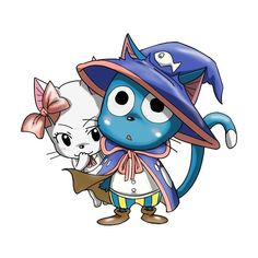 'Fairy Tail Happy' Sticker by xiaokoong Fairy Tail Manga, Fairy Tail Cat, Fairy Tail Happy, Fairy Tail Ships, Nalu, Fairytail, Erza Scarlet, Carla Fairy Tail, Fairy Tail Characters