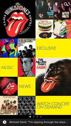 The official Rolling Stones app is available now for Apple and Android devices.  It's free, and has all kinds of exclusive content, unseen interviews with band members, and you can vote for songs to be performed live and download unheard songs!   Download it here: http://www.rollingstones.com/official-app/