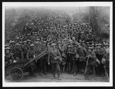 (34) C.1120 - Men of a famous London battalion on the roadside