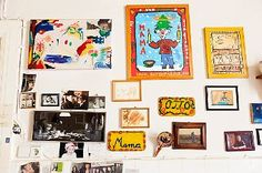 A great way to display kid's art work