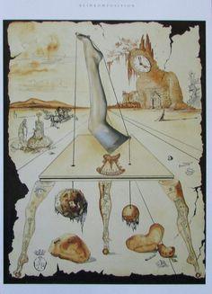 Salvador Dali BEINKOMPOSITION -VORLAGE BÜHNENBILD TRISTAN ISOLDE 2 Kunstdrucke Salvador Dali Kunst, Dali Paintings, Sculpture, Illustration, Drawings, Cards, Prints, Image, Ebay