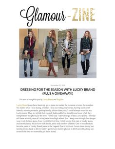 Glamour-Zine blogger shows how she likes to wear her favorite Lucky Brand cardigan, Brooke Skinny Jeans, and Charlie Skinny Jeans in this November 2014 post.