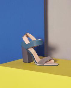 Colour block sandals - Mid Grey | Shoes | Ted Baker NEU
