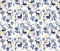 Whistling Goats fabric by katievernon on Spoonflower - custom fabric
