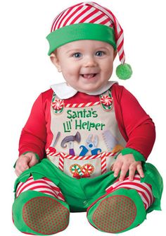 Check out this super-cute Santa's Little Helper costume from our adorable range of Christmas fancy dress costumes for babies.