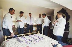 groomsmen getting ready (photo by michelle gardella via emmaline bride)