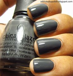 As my good friend @Brittany Gaddy said, now that it's fall [not the weather, but in our hearts], we can wear dark nail polish.  (China Glaze Concrete Catwalk)