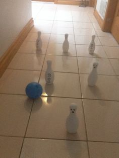 Haunted Bowling, Looks Very Cool Under Black Light! Plastic Bowling Sets  Can Be Found At Most Dollar Stores Or Walmart. Paint The Bowling Pins Like  Ghosts, ...
