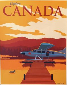 Explore Canada Hand Signed Poster Drawing by Steve Thomas