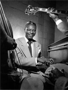 Nat King Cole Quartet, NYC, New York, 1949. This is my  man right here - my first celebrity crush....