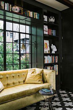 velvet couch love